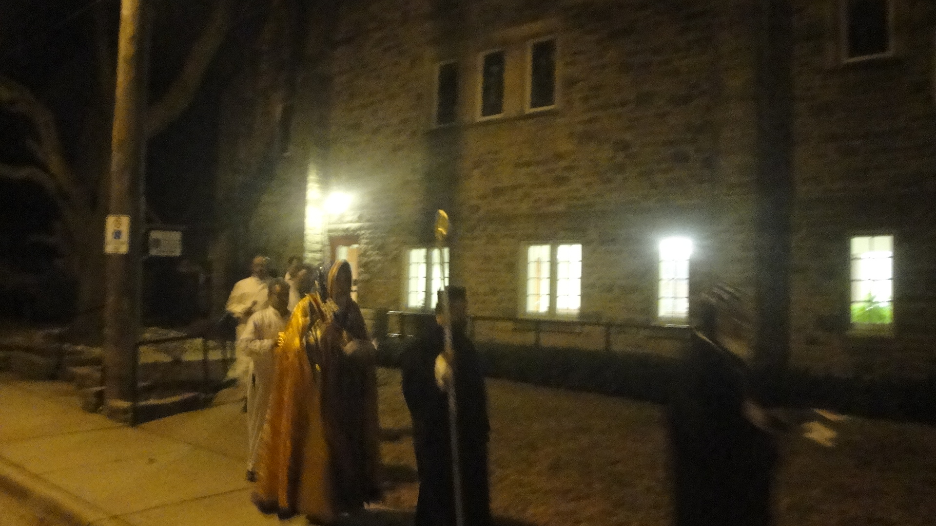 Procession outside 2