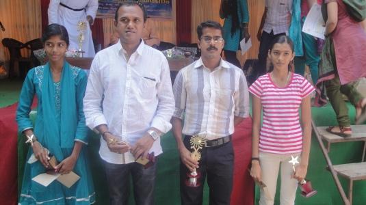 Sandhya and Rugma with coaches
