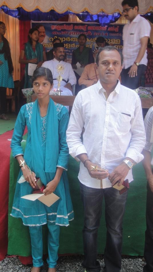 Sandhya with Coach Manoj